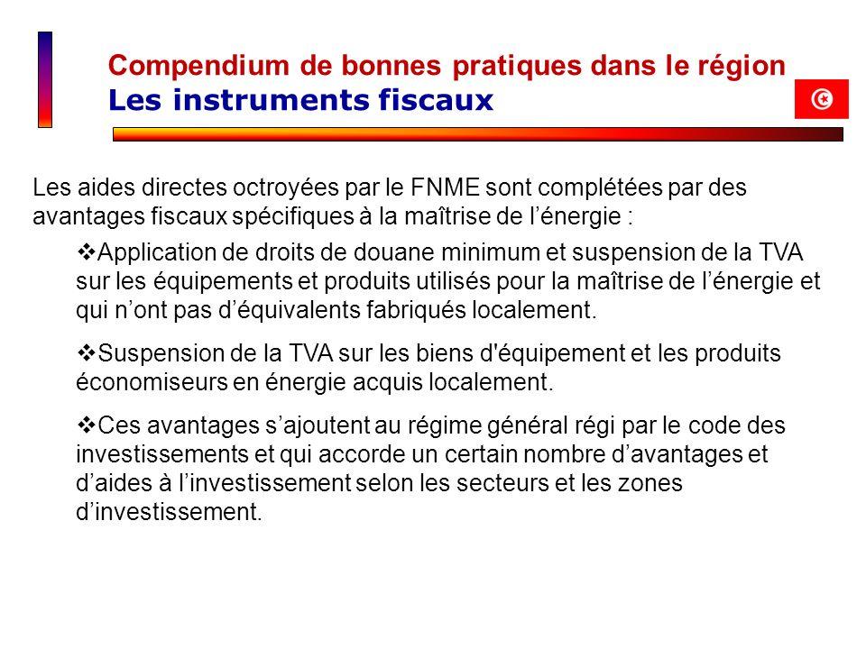 Compendium de bonnes pratiques dans le région Les instruments fiscaux