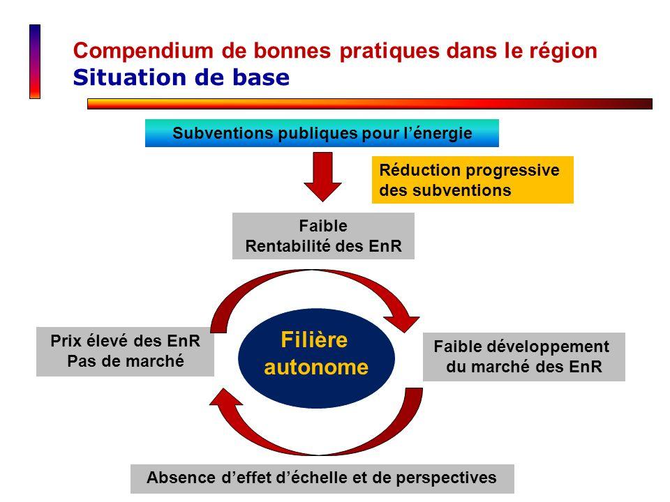 Compendium de bonnes pratiques dans le région Situation de base
