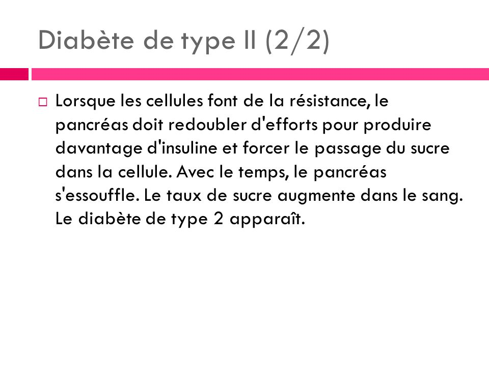 Diabète de type II (2/2)
