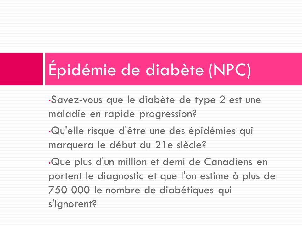 Épidémie de diabète (NPC)
