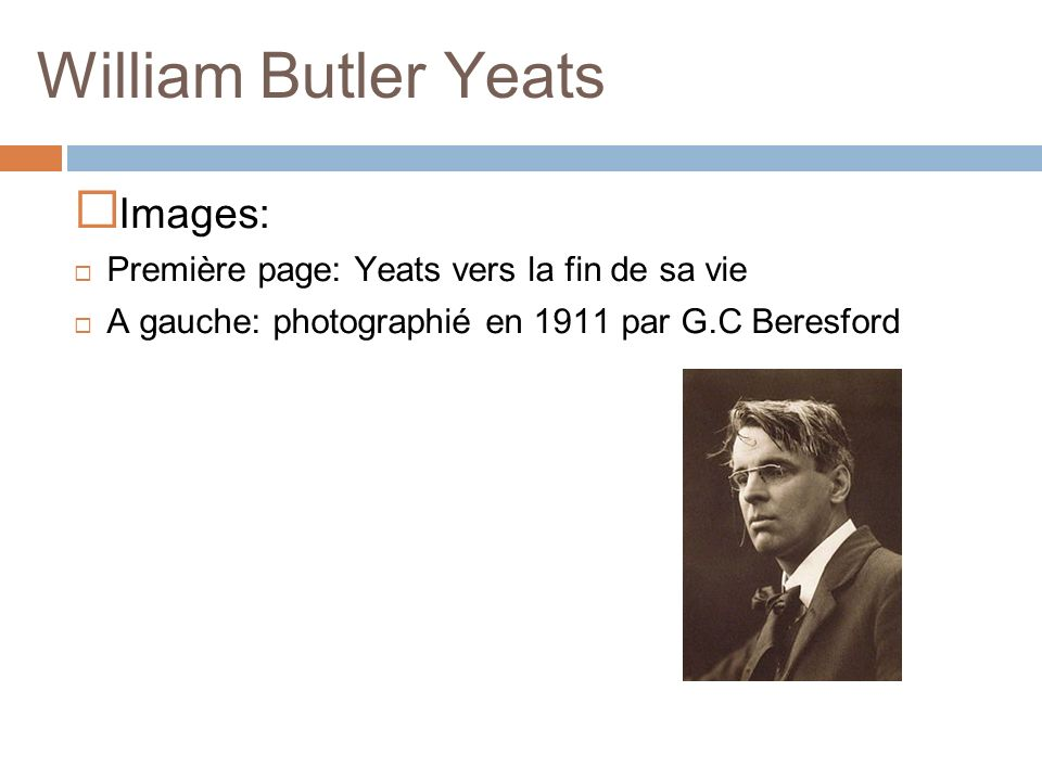 William Butler Yeats Images: