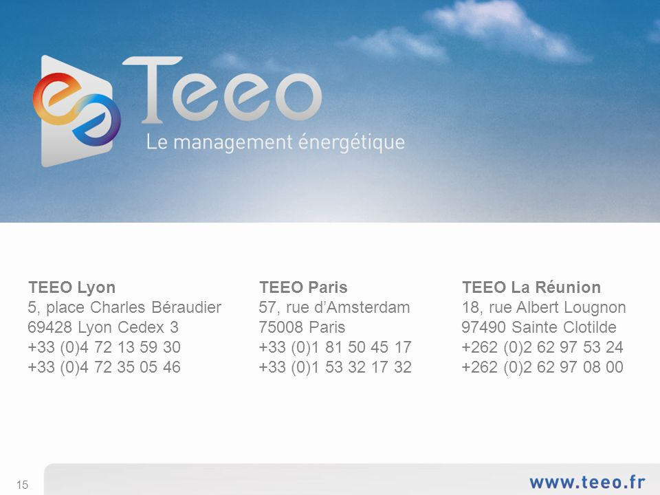 TEEO Lyon 5, place Charles Béraudier 69428 Lyon Cedex 3