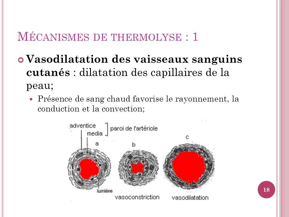 Mécanismes de thermolyse : 1