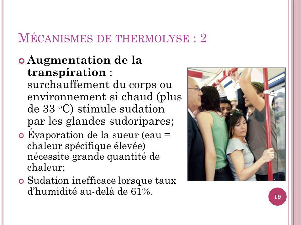 Mécanismes de thermolyse : 2