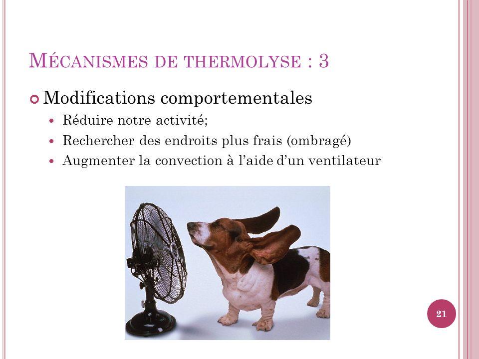 Mécanismes de thermolyse : 3