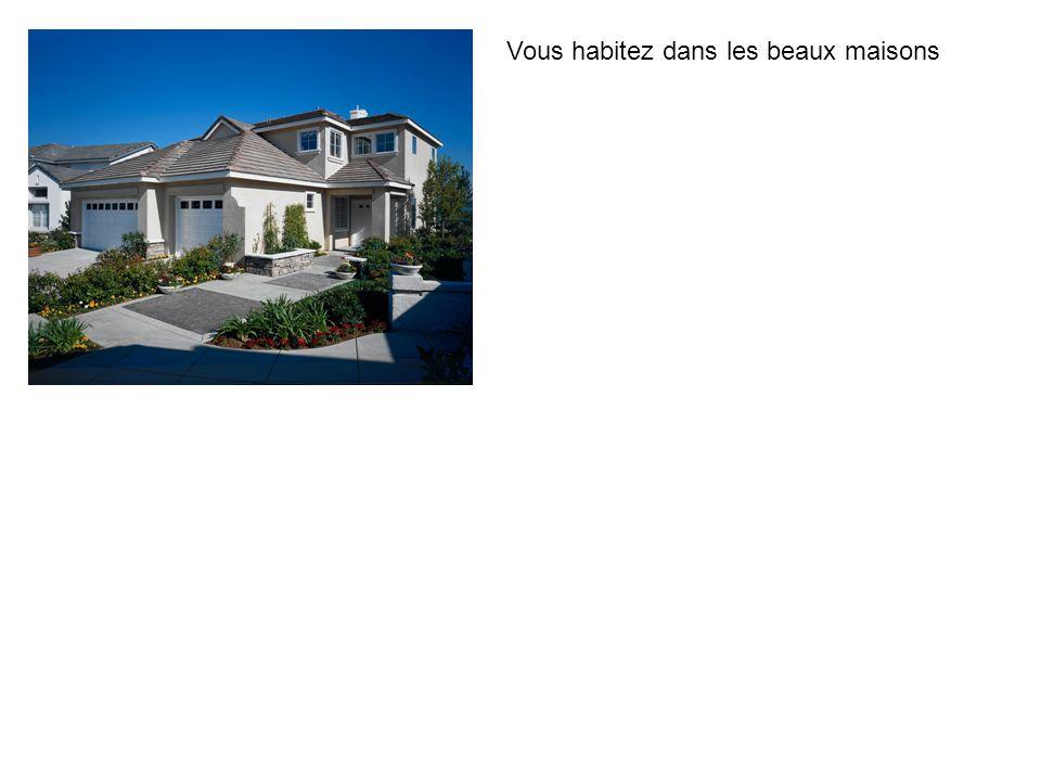 Vous habitez dans les beaux maisons