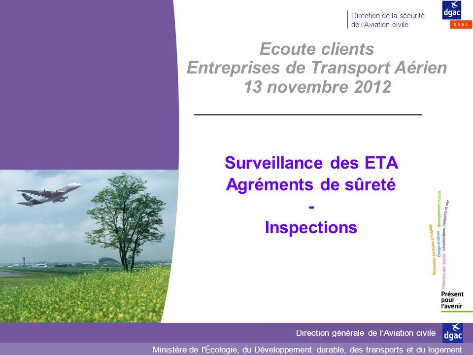 Ecoute clients Entreprises de Transport Aérien 13 novembre 2012