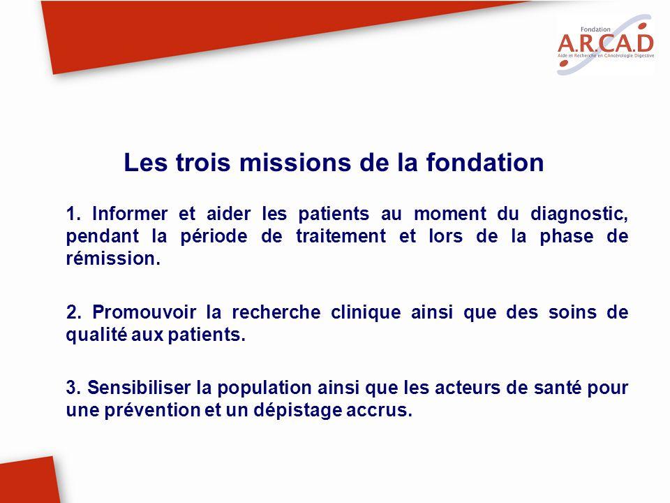 Les trois missions de la fondation
