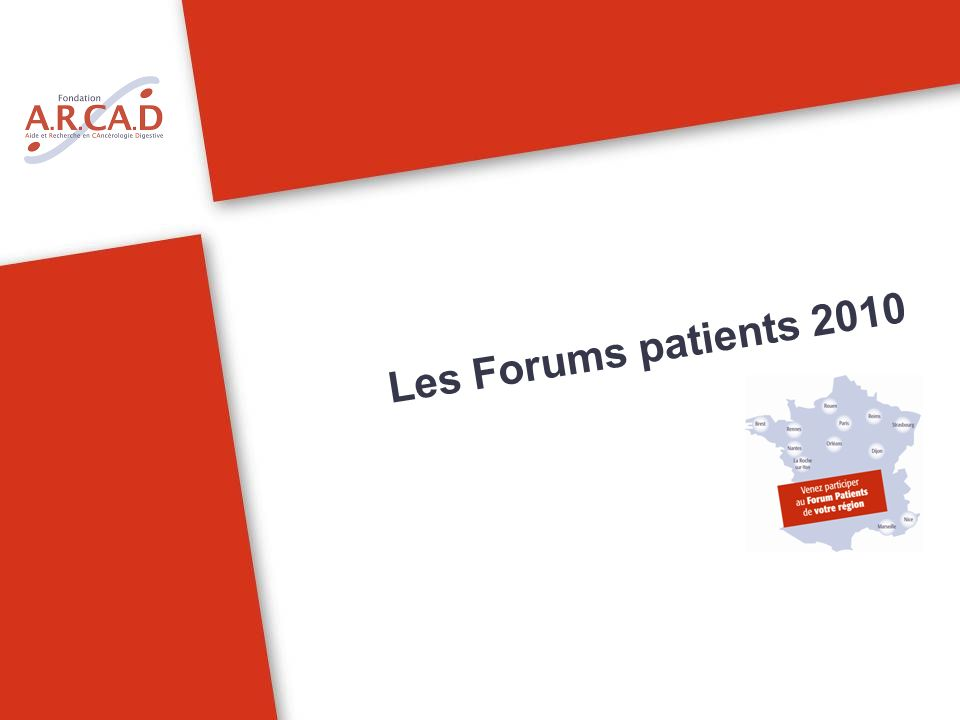Les Forums patients 2010