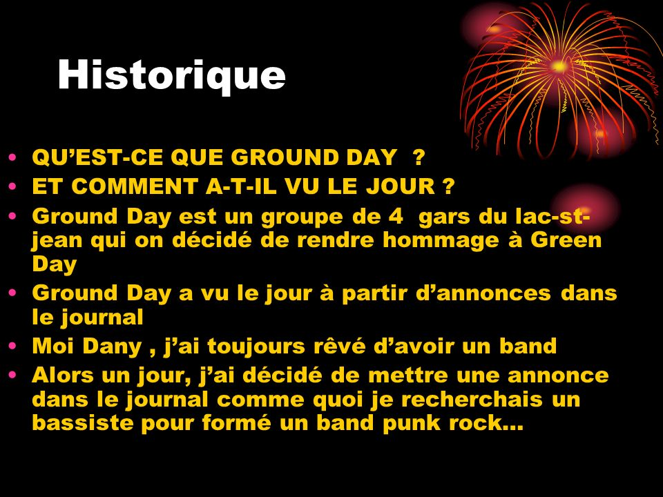 Historique QU'EST-CE QUE GROUND DAY ET COMMENT A-T-IL VU LE JOUR