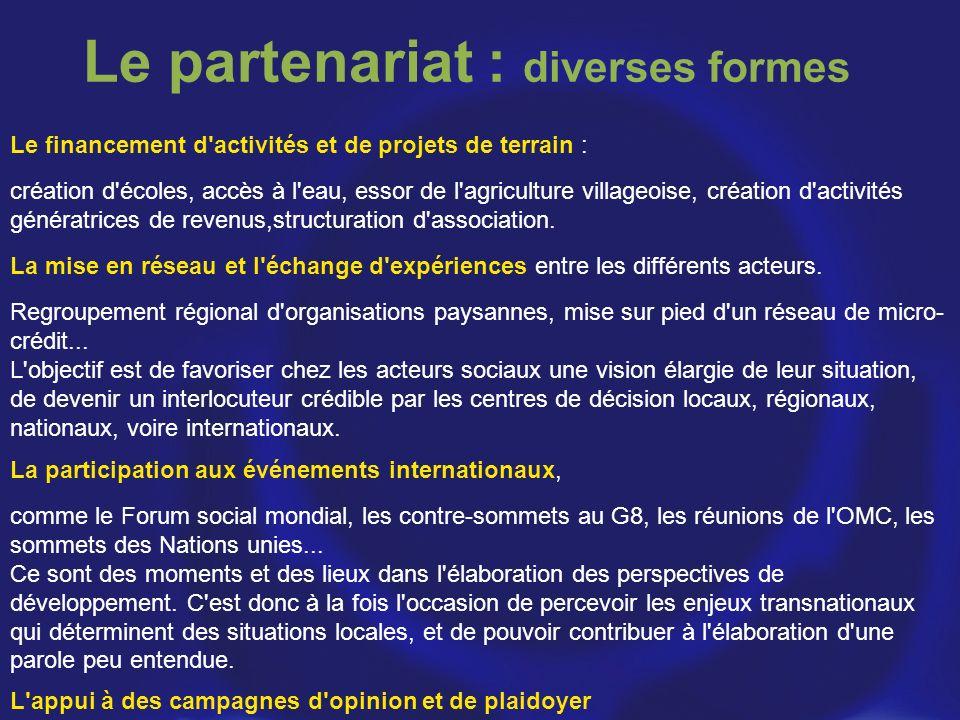 Le partenariat : diverses formes