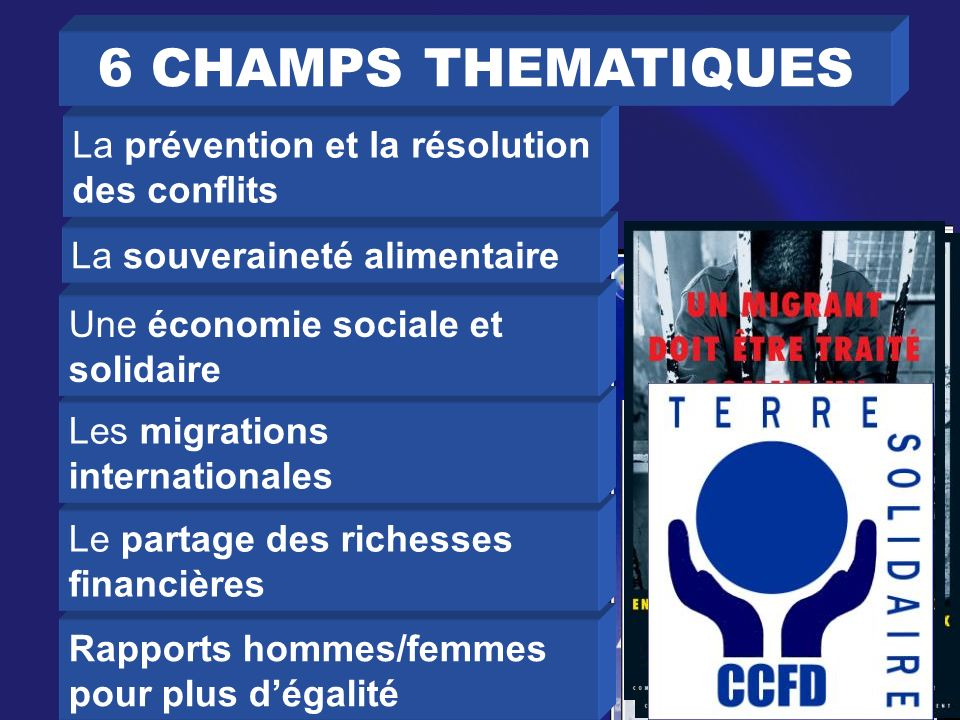 6 CHAMPS THEMATIQUES La prévention et la résolution des conflits