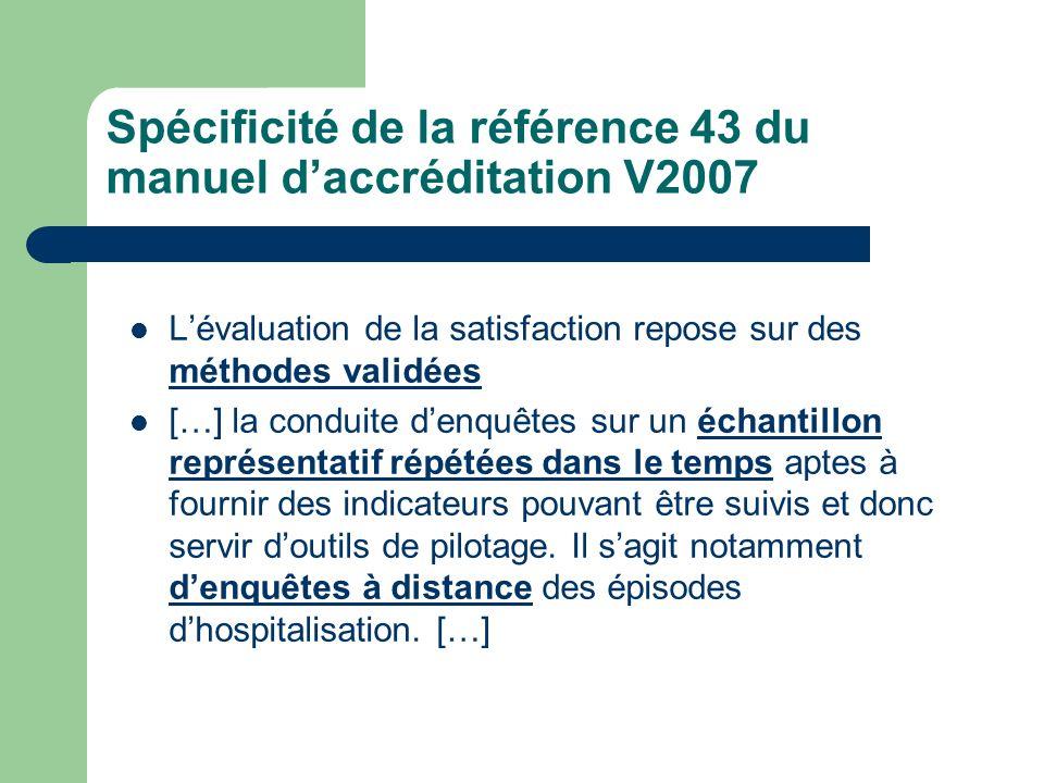 Spécificité de la référence 43 du manuel d'accréditation V2007