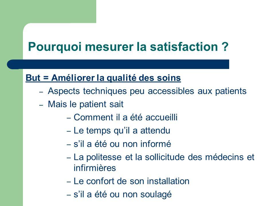 Pourquoi mesurer la satisfaction
