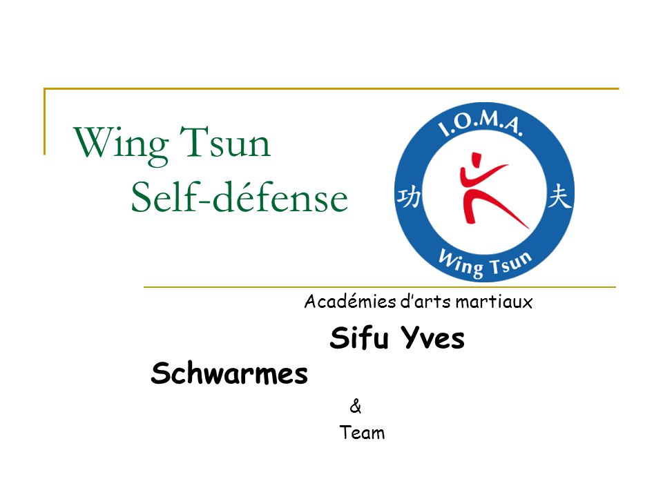 Wing Tsun Self-défense