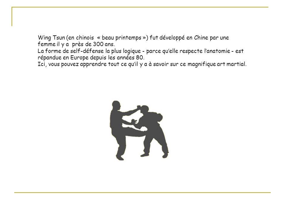 Wing Tsun (en chinois « beau printemps ») fut développé en Chine par une femme il y a près de 300 ans.