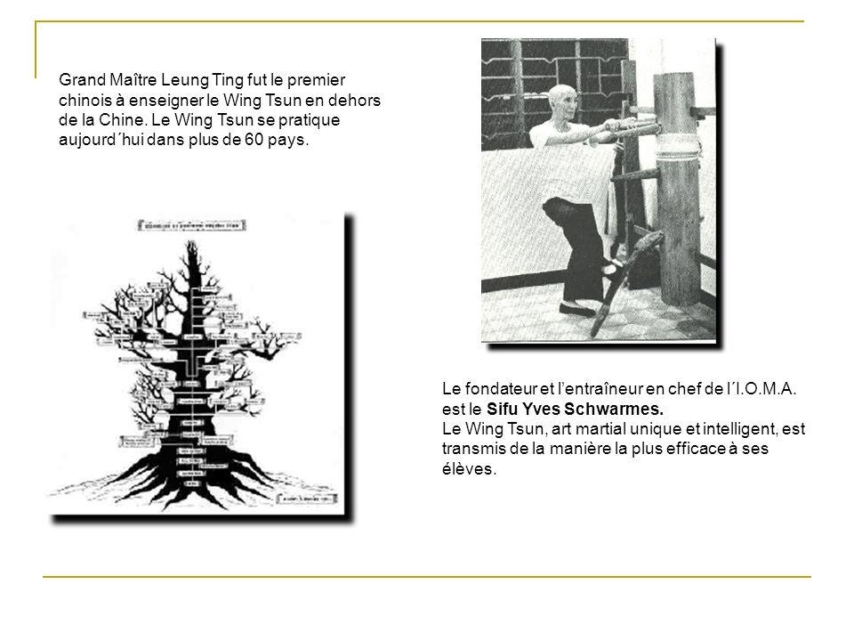 Grand Maître Leung Ting fut le premier chinois à enseigner le Wing Tsun en dehors de la Chine. Le Wing Tsun se pratique aujourd´hui dans plus de 60 pays.