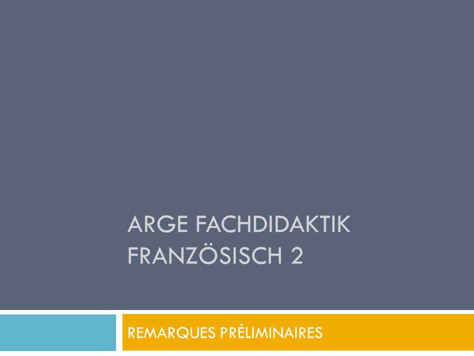 ARGE Fachdidaktik Französisch 2