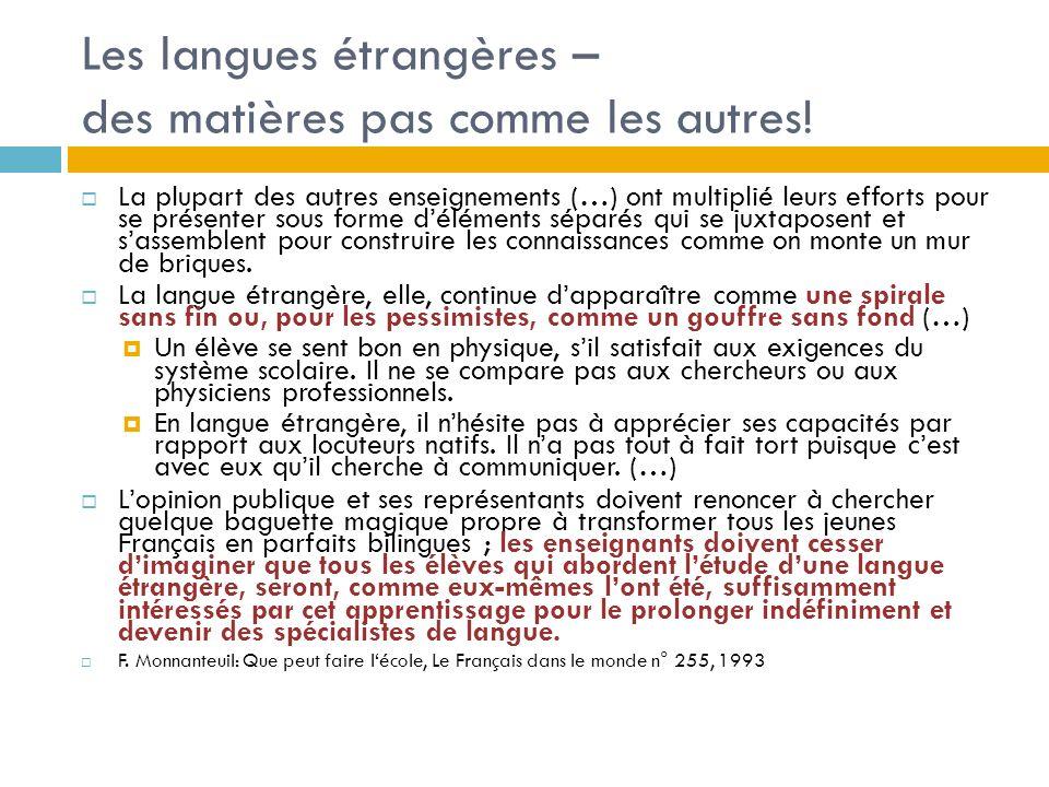 Les langues étrangères – des matières pas comme les autres!