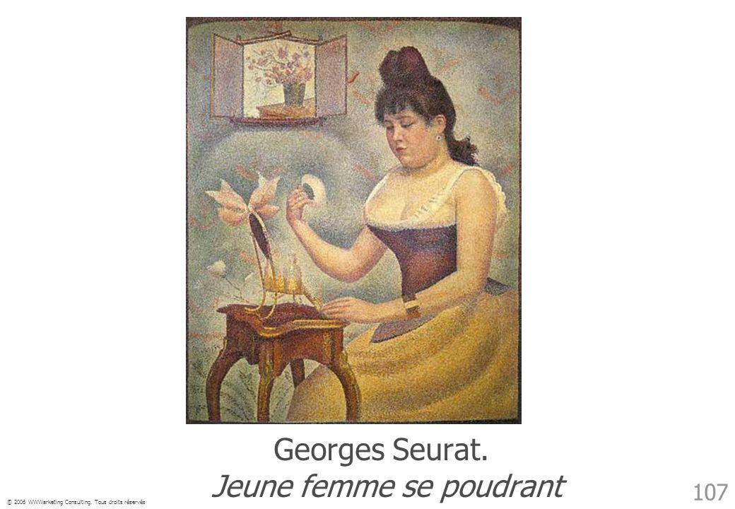 Georges Seurat. Jeune femme se poudrant
