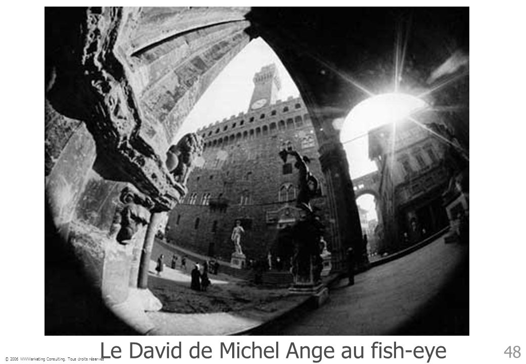 Le David de Michel Ange au fish-eye
