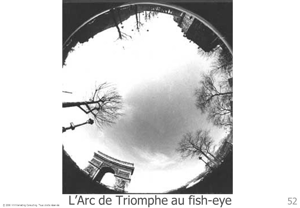 L'Arc de Triomphe au fish-eye