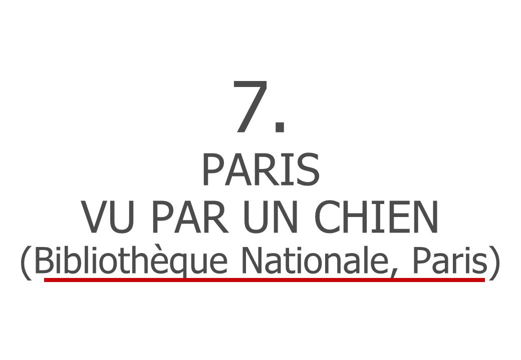 7. PARIS VU PAR UN CHIEN (Bibliothèque Nationale, Paris)