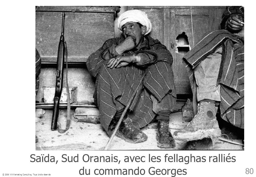 Saïda, Sud Oranais, avec les fellaghas ralliés du commando Georges