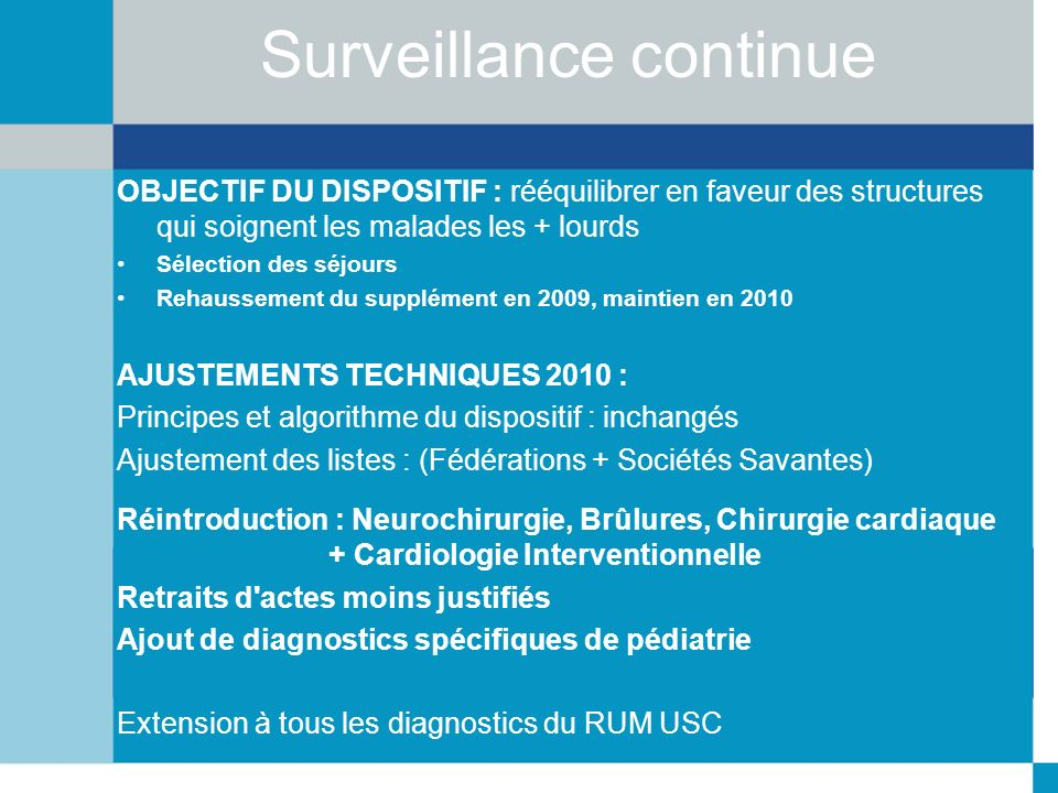 Surveillance continue