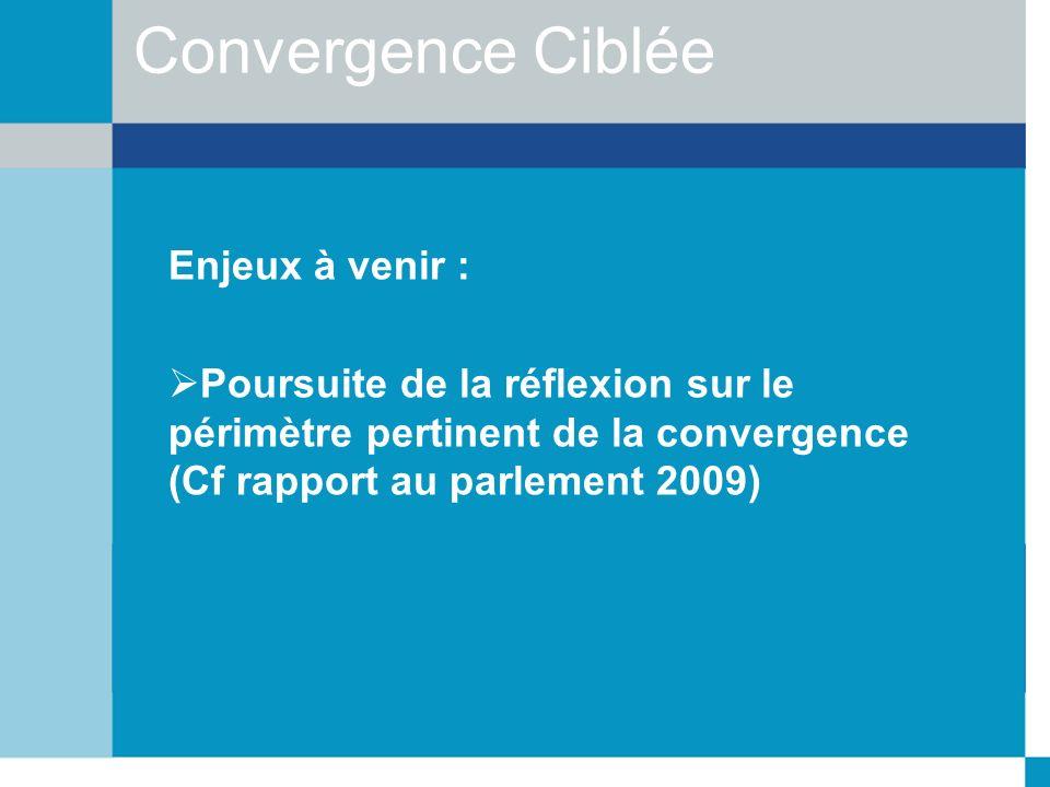 Convergence Ciblée Enjeux à venir :