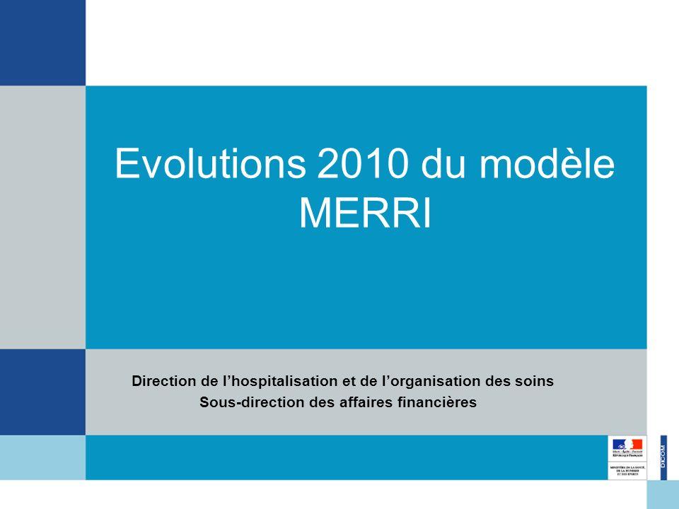 Evolutions 2010 du modèle MERRI