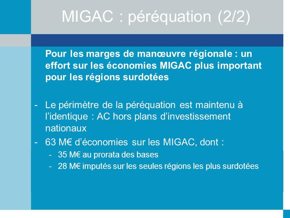 MIGAC : péréquation (2/2)