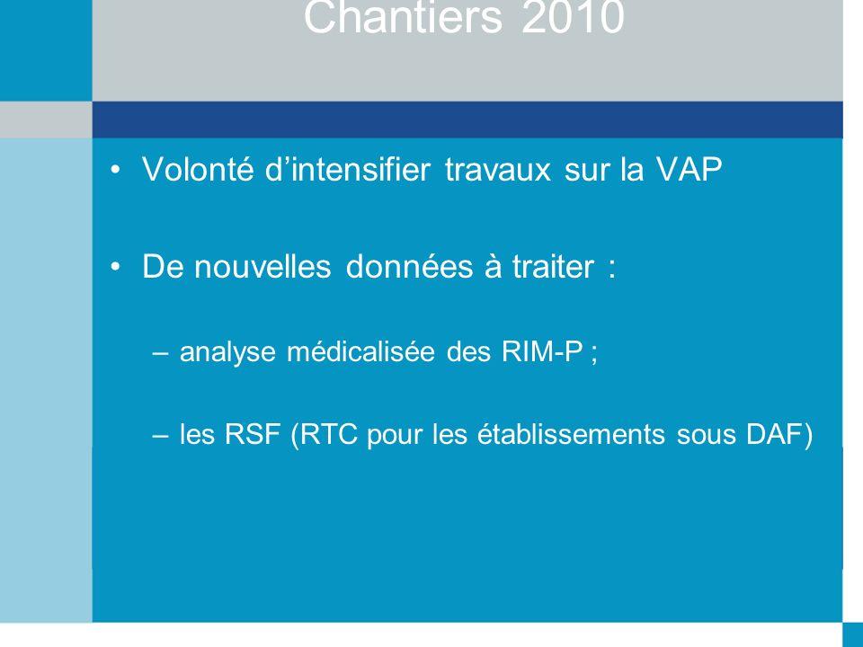 Chantiers 2010 Volonté d'intensifier travaux sur la VAP