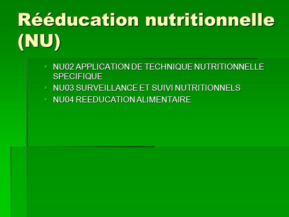 Rééducation nutritionnelle (NU)