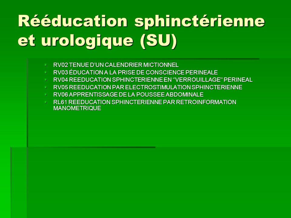 Rééducation sphinctérienne et urologique (SU)