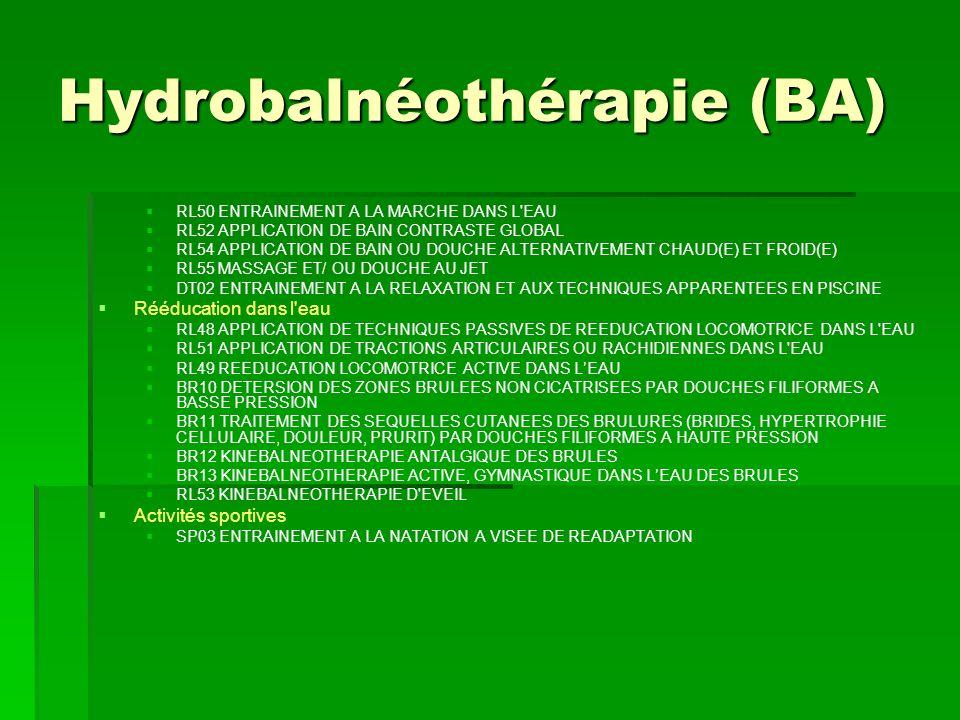 Hydrobalnéothérapie (BA)