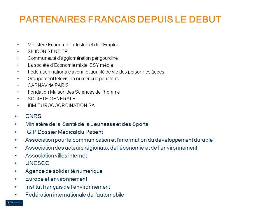 PARTENAIRES FRANCAIS DEPUIS LE DEBUT