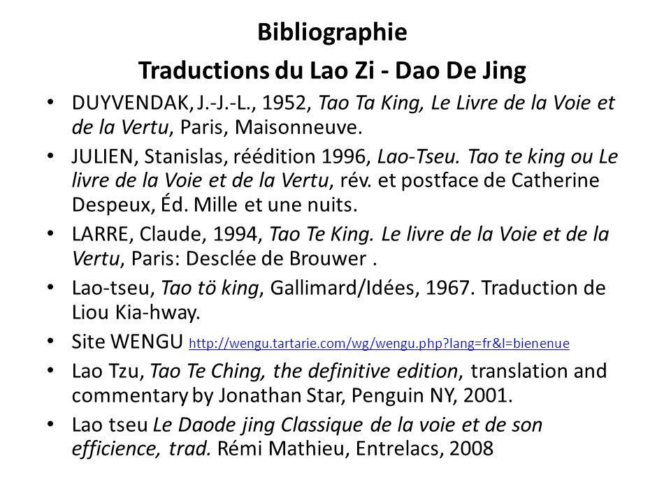 Bibliographie Traductions du Lao Zi - Dao De Jing