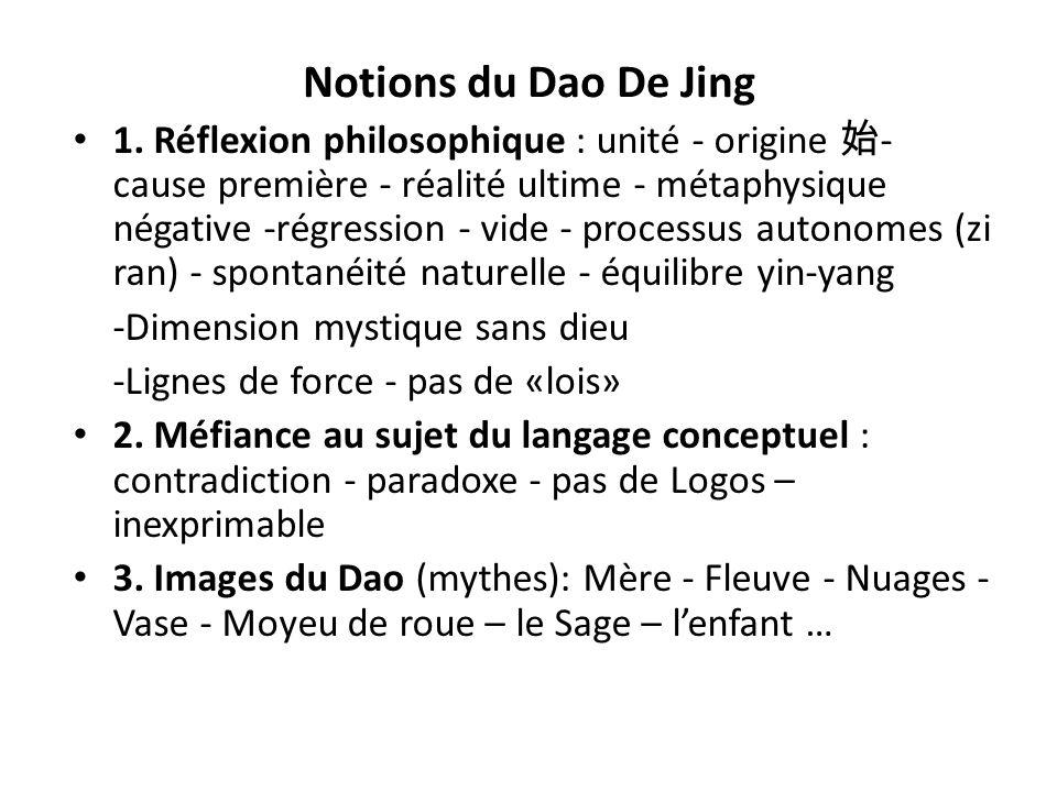 Notions du Dao De Jing