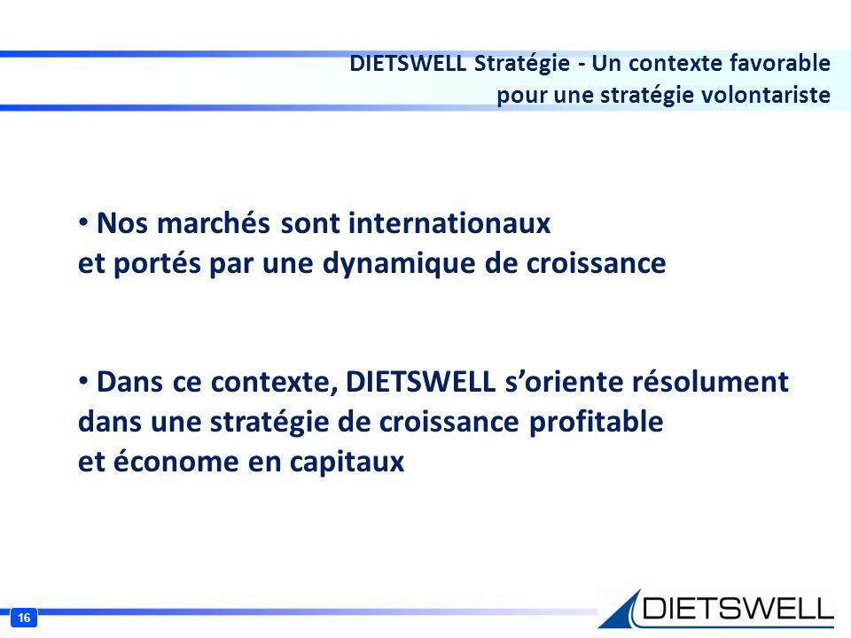 DIETSWELL Stratégie - Un contexte favorable pour une stratégie volontariste