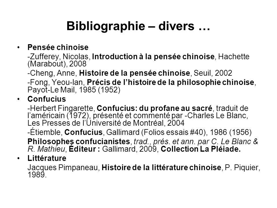 Bibliographie – divers …