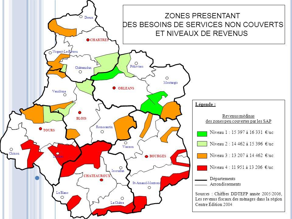 DES BESOINS DE SERVICES NON COUVERTS ET NIVEAUX DE REVENUS