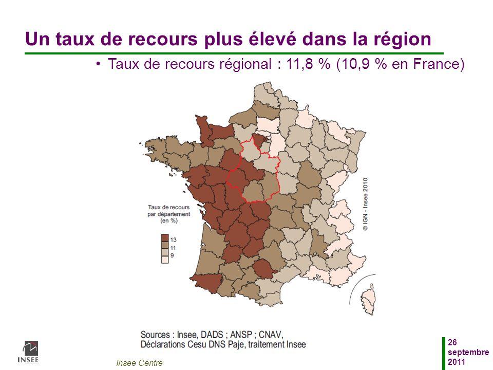 Un taux de recours plus élevé dans la région