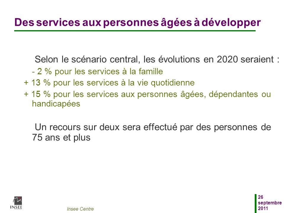 Des services aux personnes âgées à développer