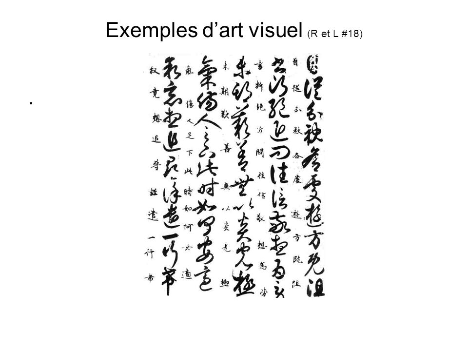 Exemples d'art visuel (R et L #18)