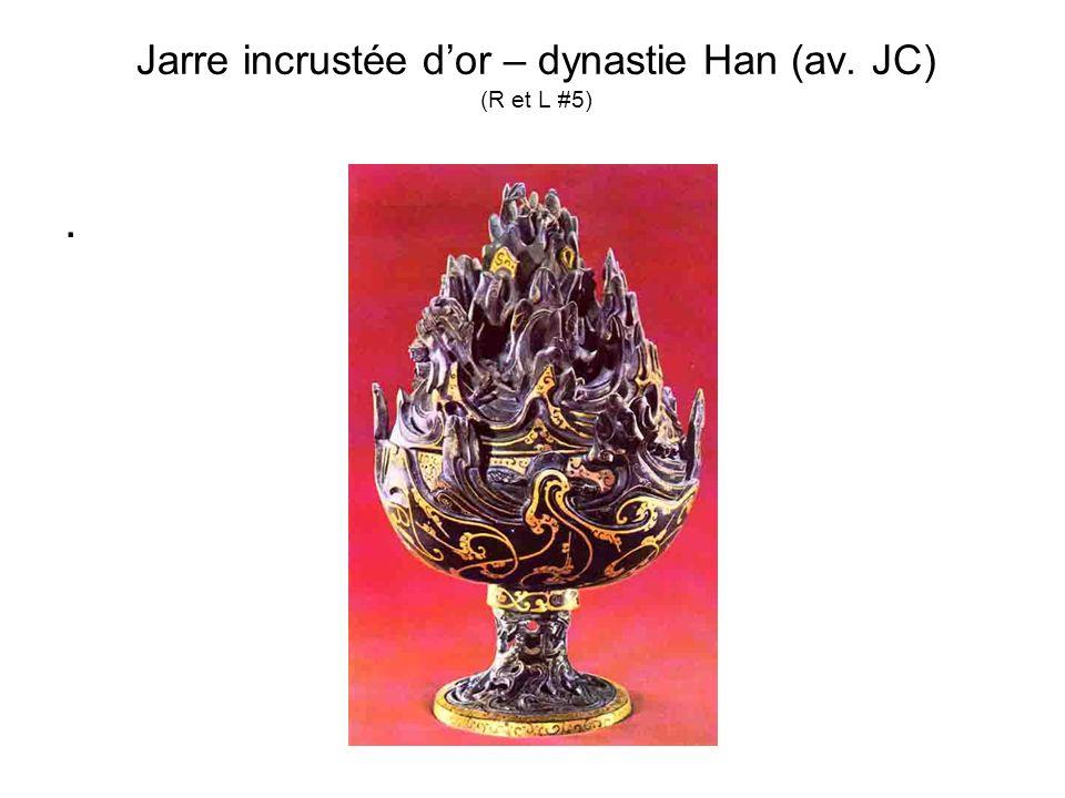 Jarre incrustée d'or – dynastie Han (av. JC) (R et L #5)
