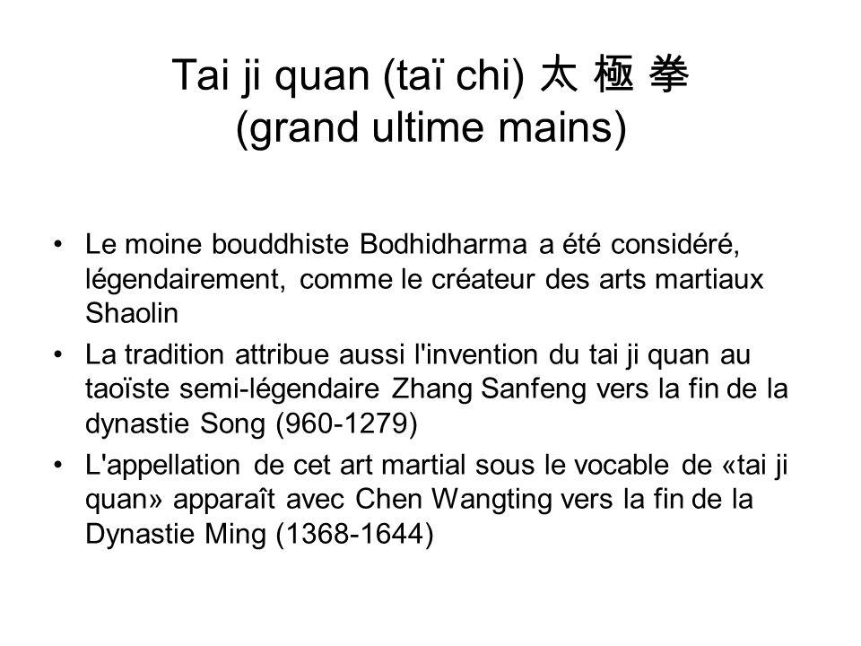 Tai ji quan (taï chi) 太 極 拳 (grand ultime mains)