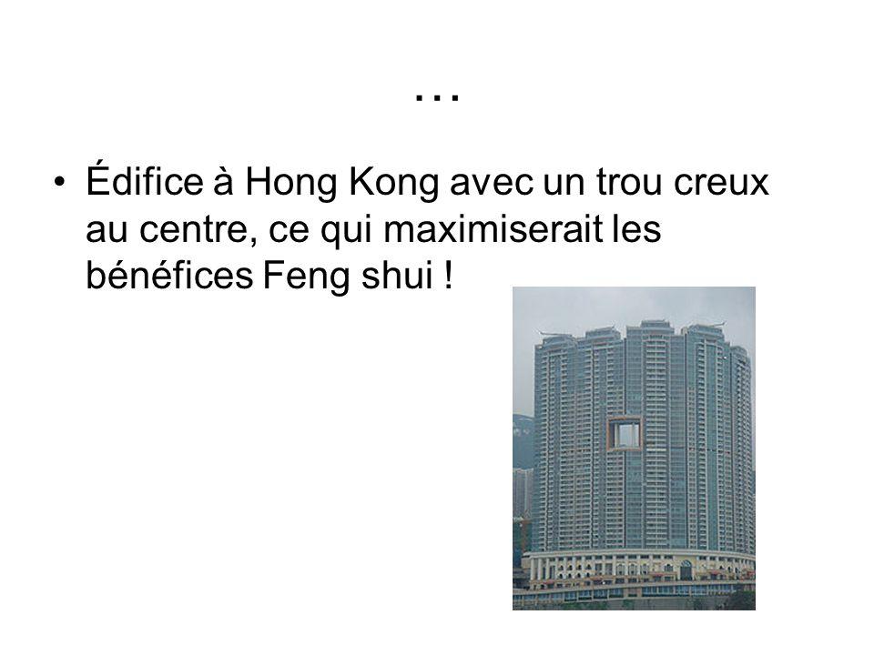 … Édifice à Hong Kong avec un trou creux au centre, ce qui maximiserait les bénéfices Feng shui !