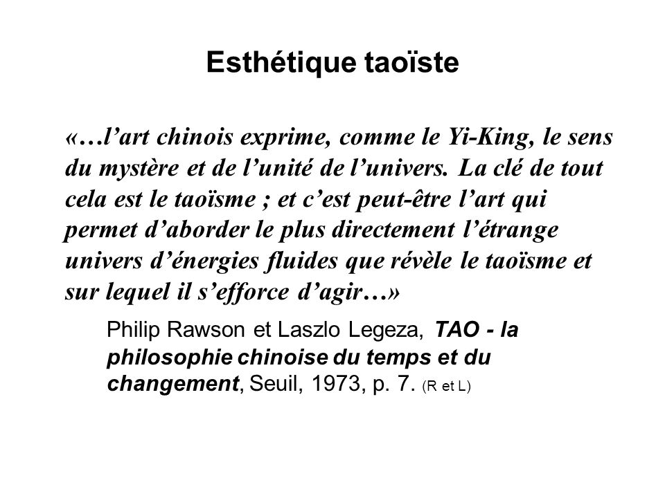 Esthétique taoïste