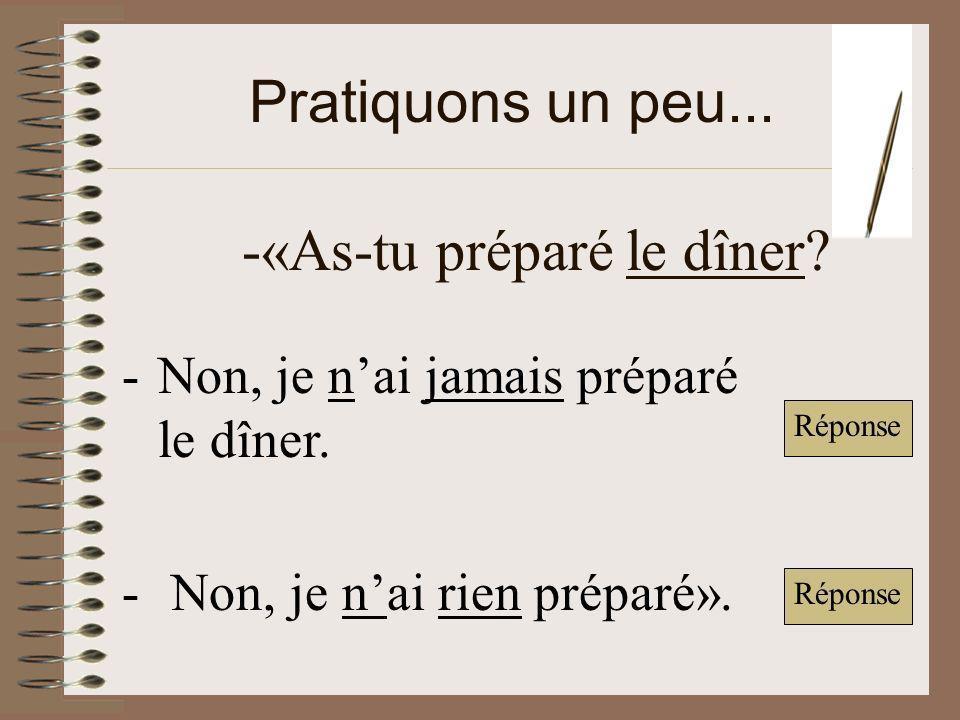 -«As-tu préparé le dîner